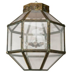 Italian Antiqued Brass Lantern or Multiples Available
