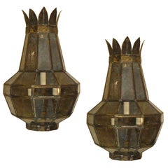 Large Pair of Italian Wall Lights