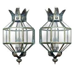 Italian Brass Acanthus Lantern