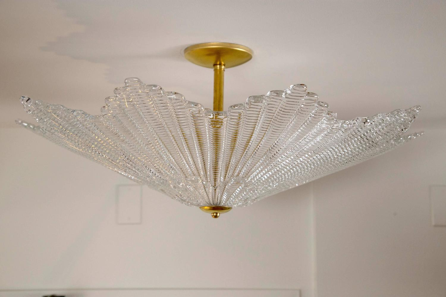 Large Murano Star Shaped Ceiling Fixture For Sale At 1stdibs