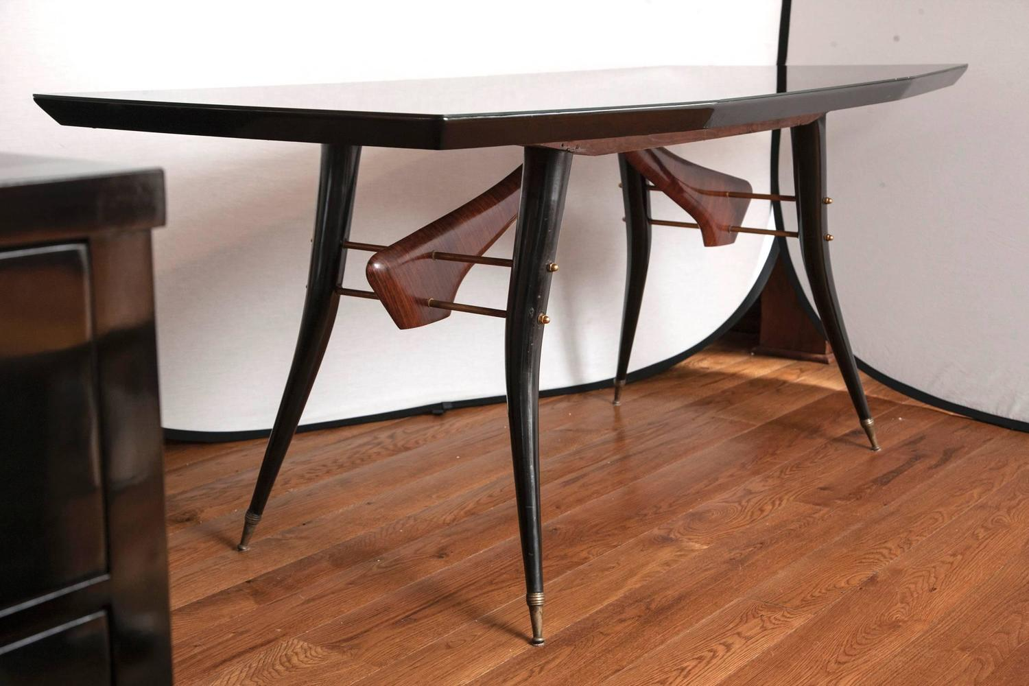 sleek italian design table at 1stdibs