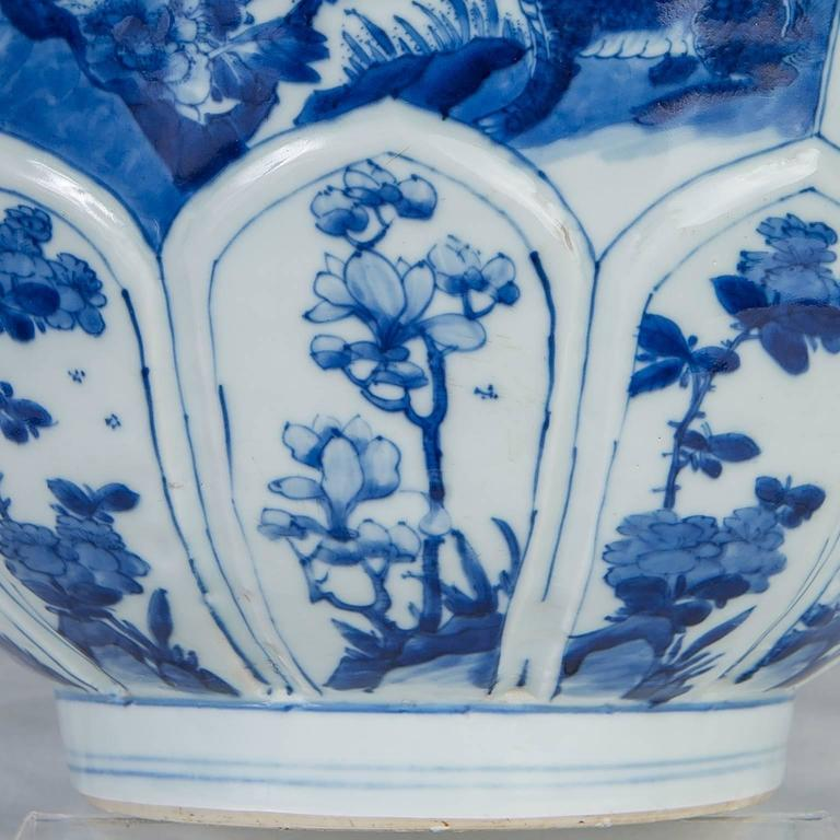 Qing Chinese Blue and White Porcelain Bowl Antique  For Sale