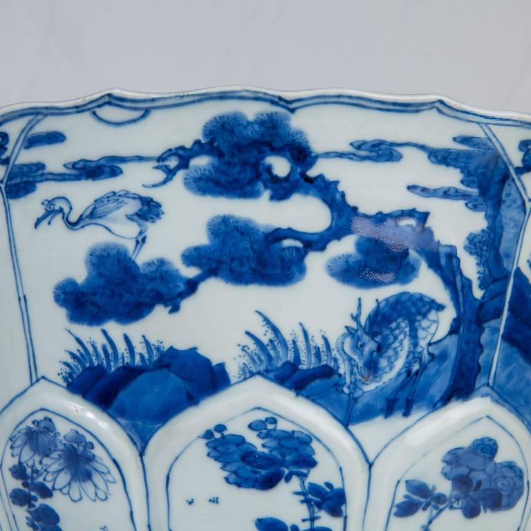 Chinese Blue and White Porcelain Bowl Antique  In Excellent Condition For Sale In New York, NY