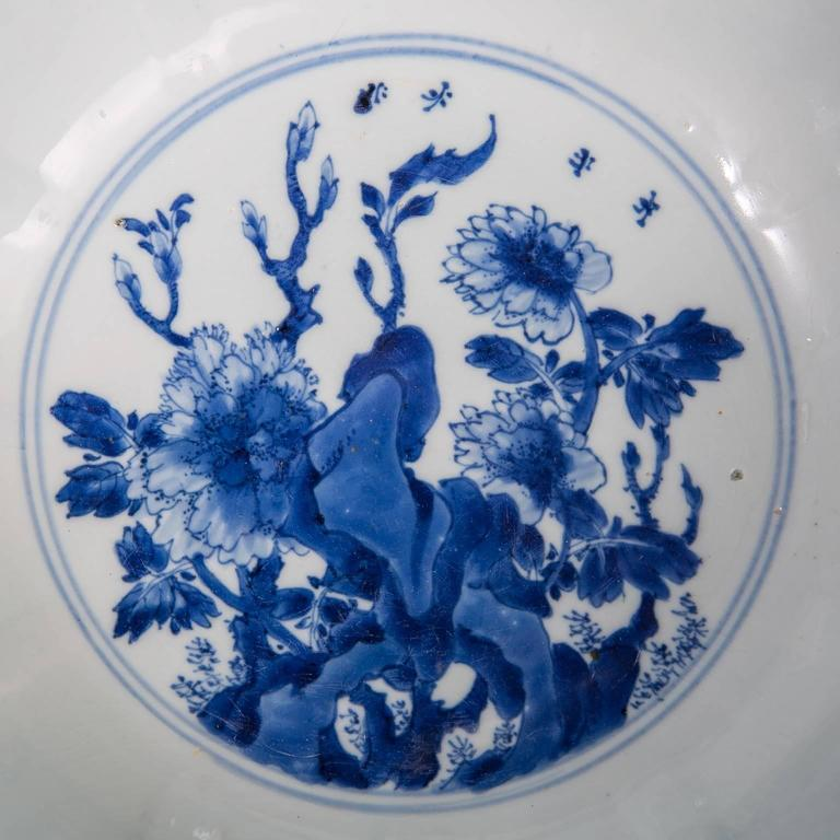 Chinese Blue and White Porcelain Bowl Antique  For Sale 1