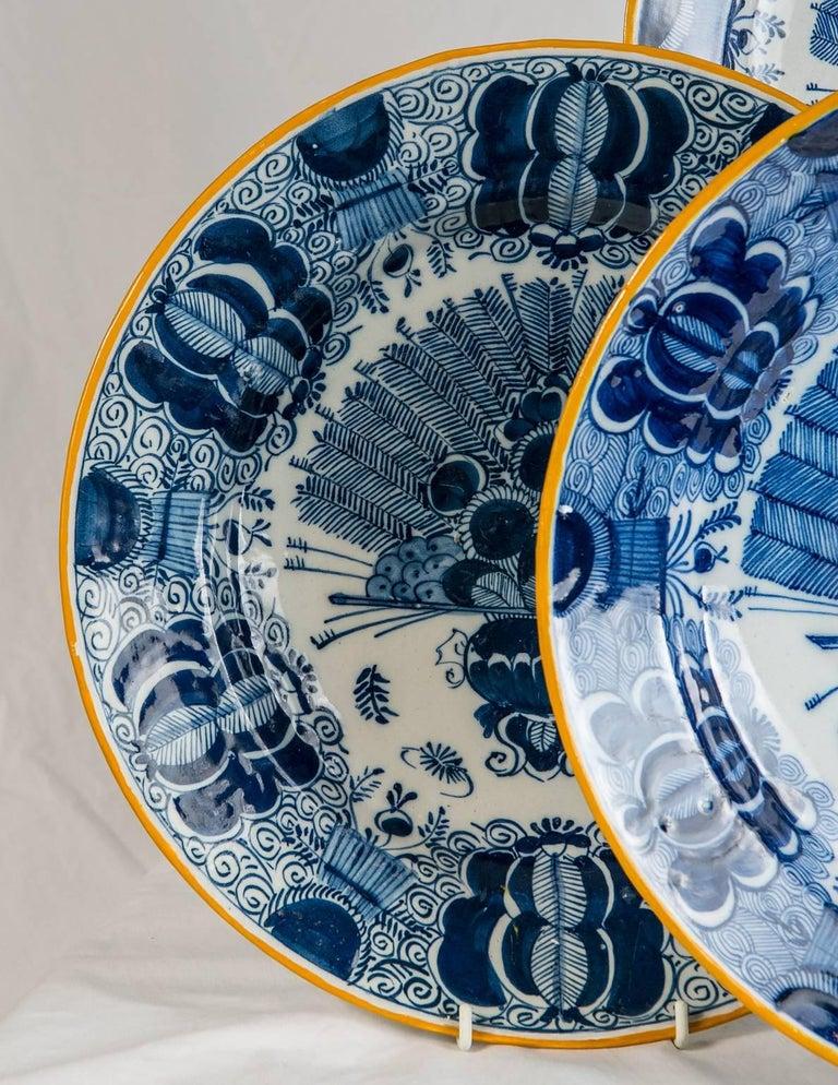 Platten Blau und weiß Delfter Gruppe von einem Dutzend 4