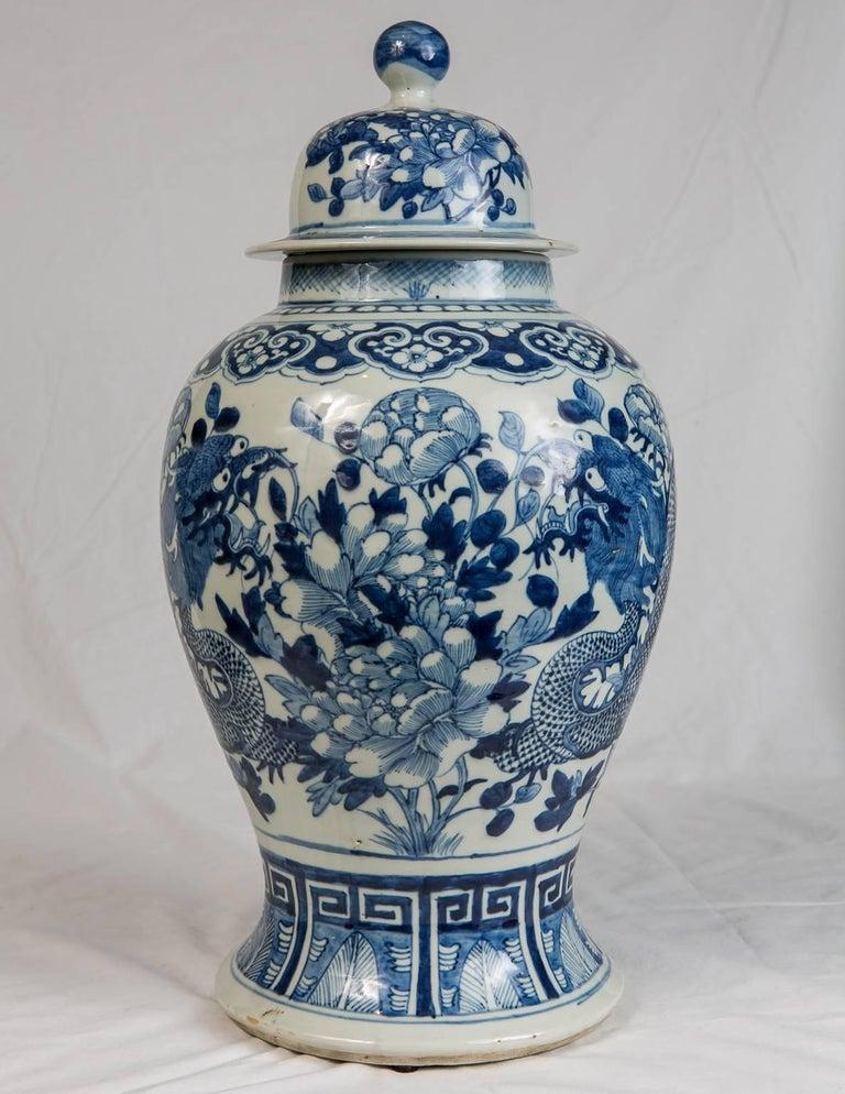 blue and white chinese ginger jar at 1stdibs. Black Bedroom Furniture Sets. Home Design Ideas