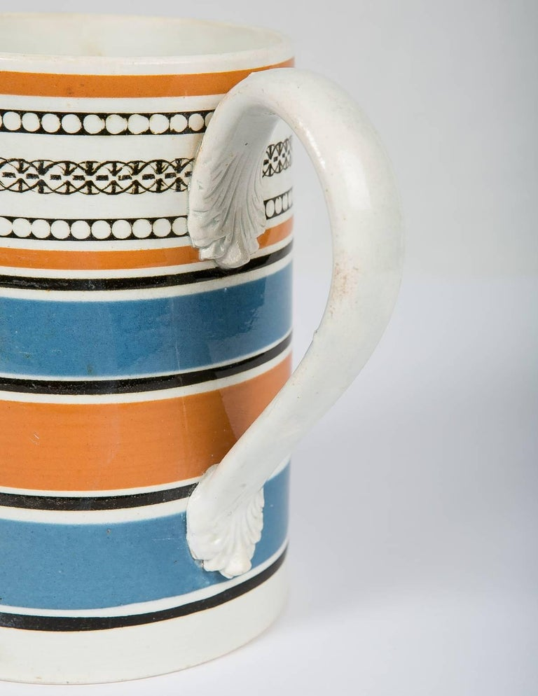 Teal and Orange Mug In Excellent Condition For Sale In New York, NY