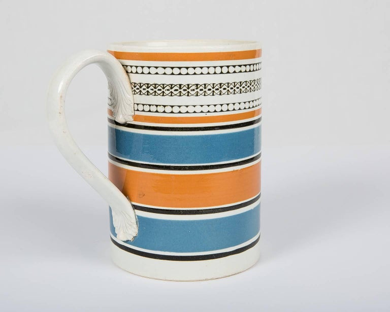 English Teal and Orange Mug For Sale