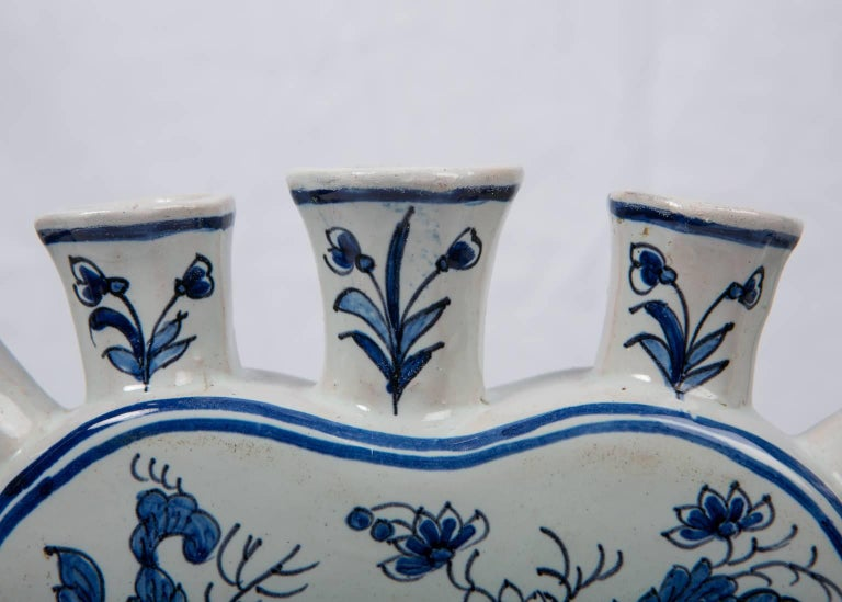 Delft Blue and White Tulipiere or Tulip Vase For Sale 4