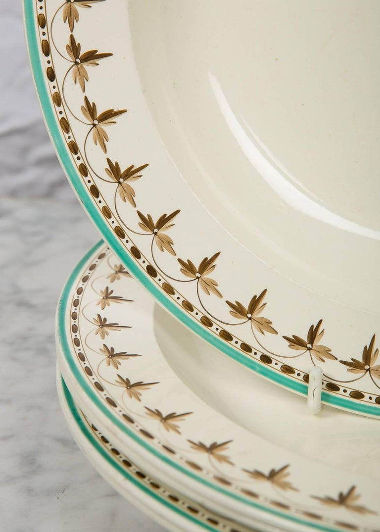 English  Wedgwood Creamware Soup Dishes from 18th Century, Set of 11 For Sale