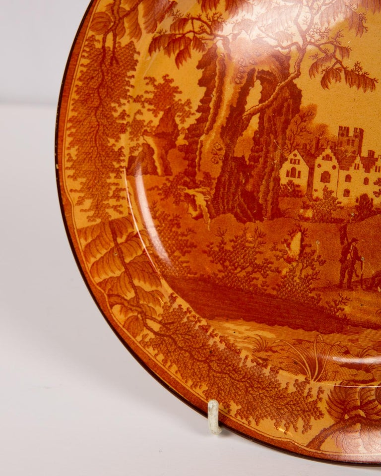 Romantic Red Transfer ware Dishes For Sale