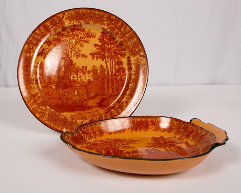 Early 19th Century Red Transfer ware Dishes For Sale