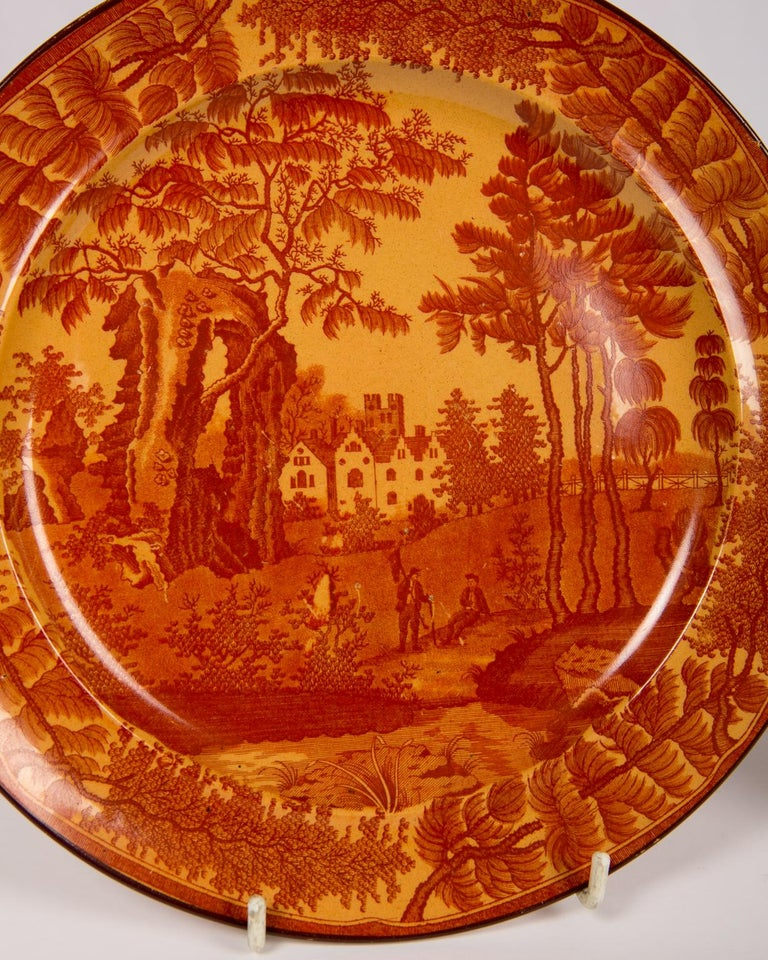 Red Transfer ware Dishes For Sale 2