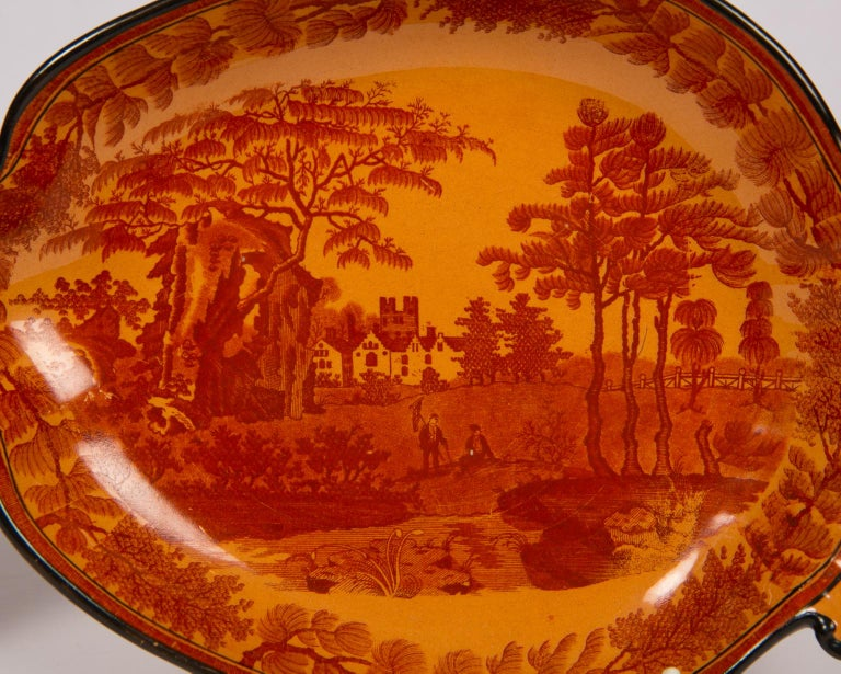 Red Transfer ware Dishes For Sale 3