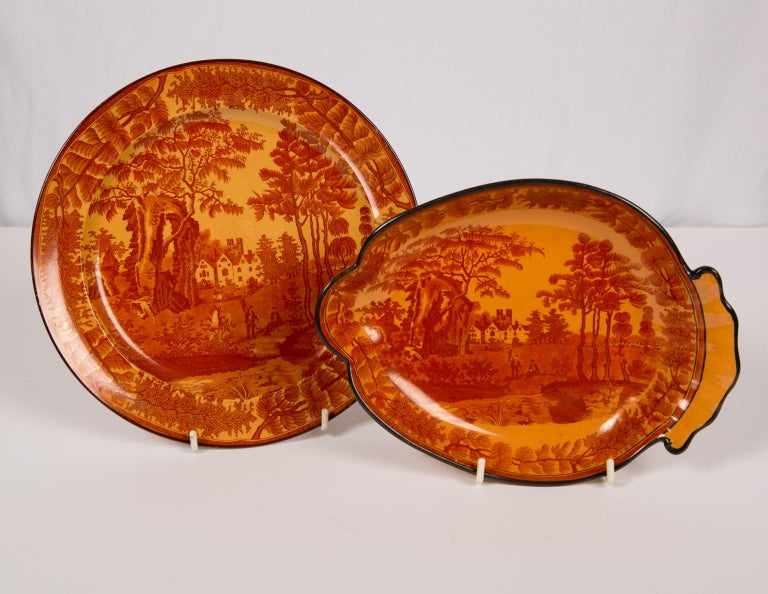 Red Transfer ware Dishes For Sale 6