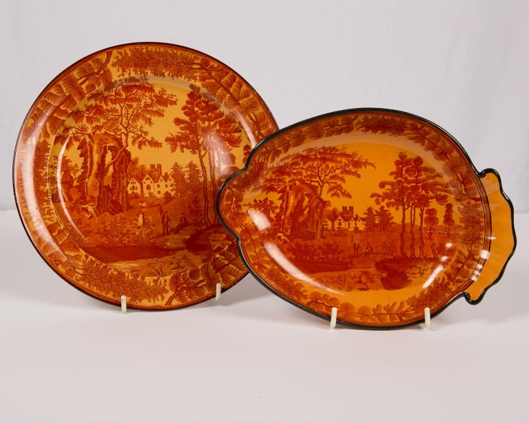 Red Transfer ware Dishes For Sale 7