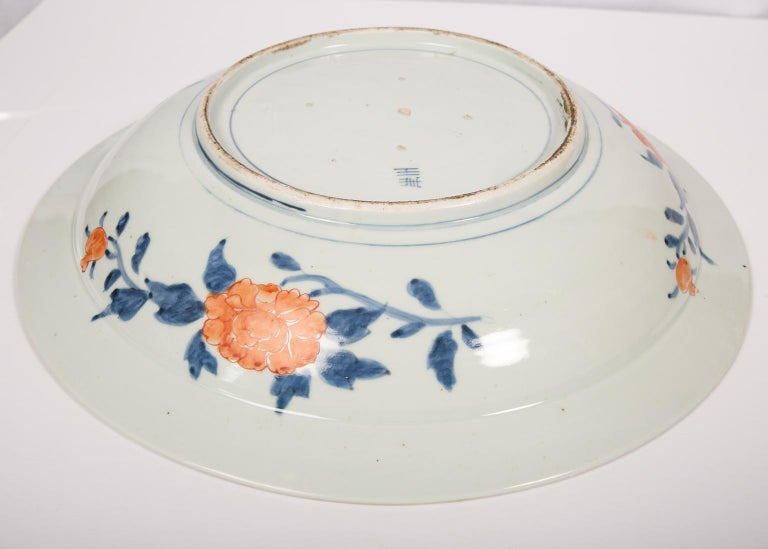 Large Antique Japanese Charger In Good Condition For Sale In New York, NY