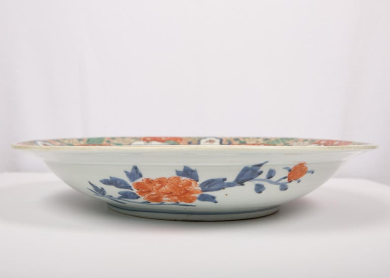 19th Century Large Antique Japanese Charger For Sale