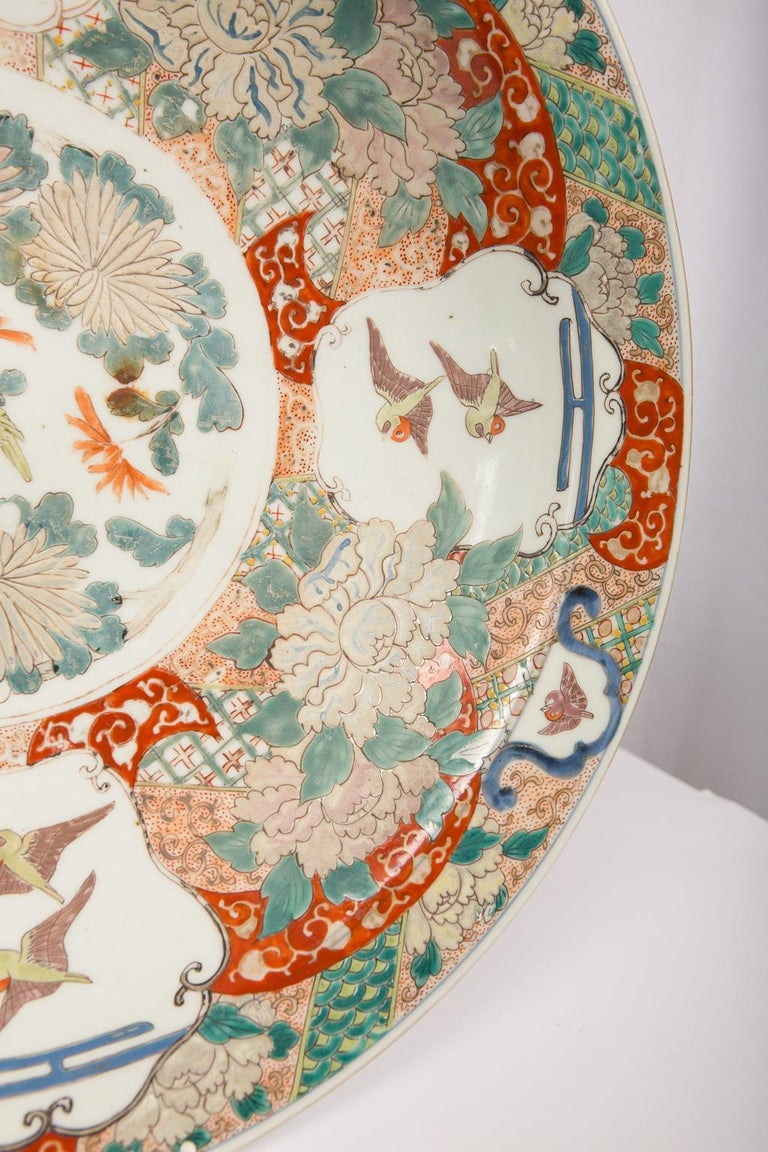 Large Antique Japanese Charger For Sale 2