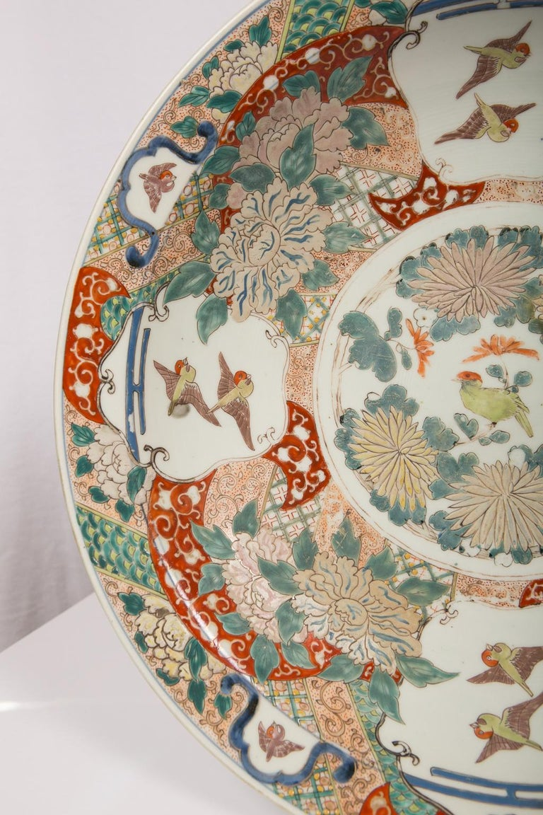 Large Antique Japanese Charger For Sale 7
