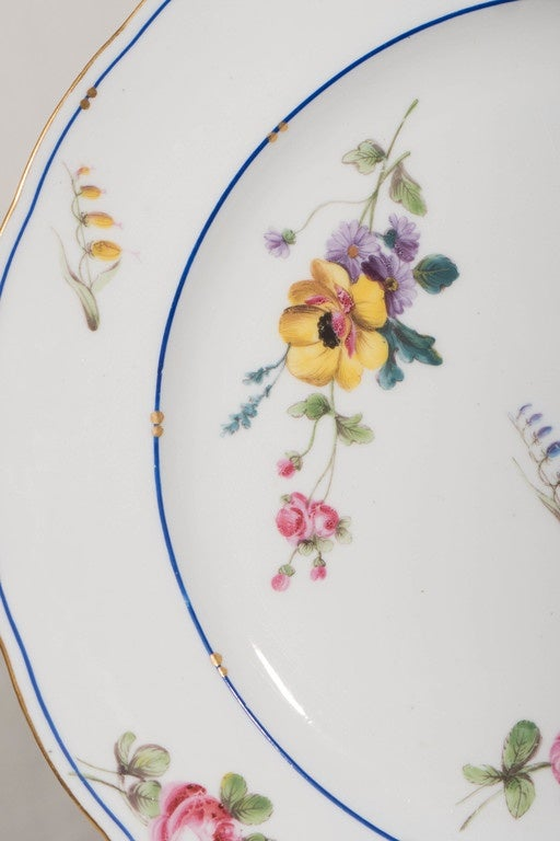 Neoclassical  Dozen Sèvres Porcelain Dishes   For Sale