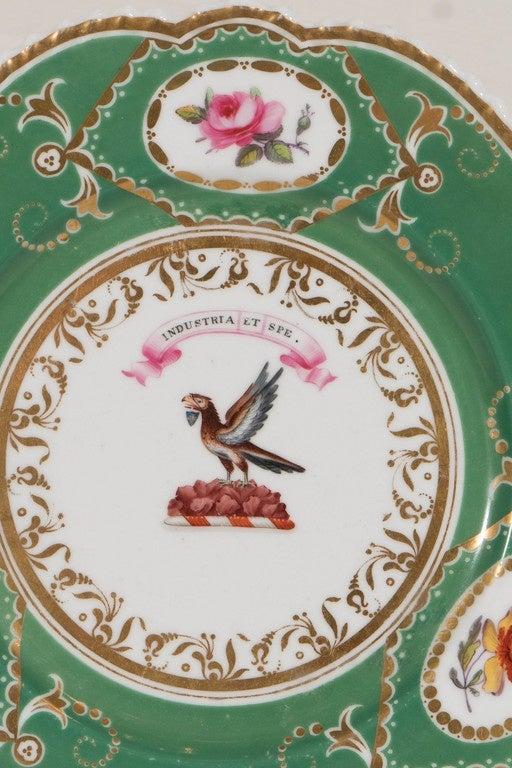 Neoclassical  Armorial Dish Motto