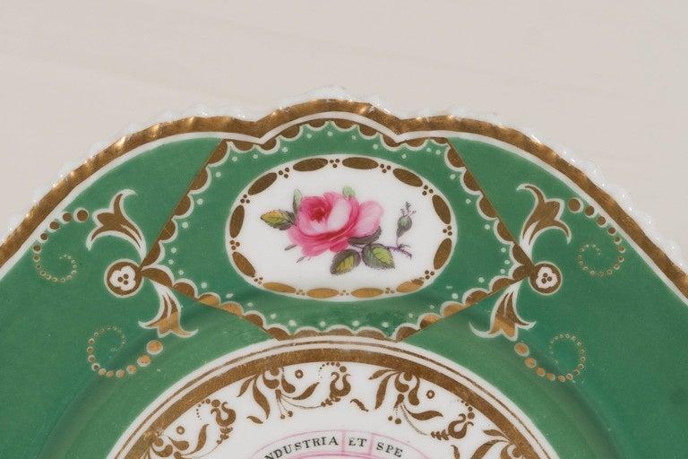 English  Armorial Dish Motto