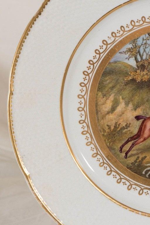 Antiker Englischer Teller mit Fuchsjäger Szene 3