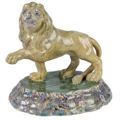 Dutch Delft Lion, 18th Century