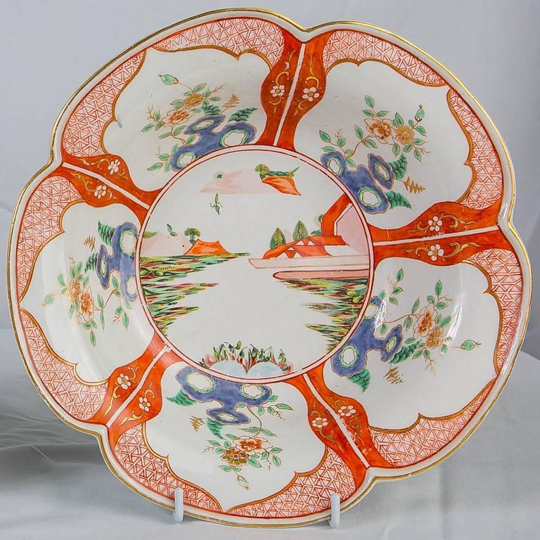 Paar Porzellanschalen mit Chinoiserie-Dekoration aus dem 18. Jahrhundert 6