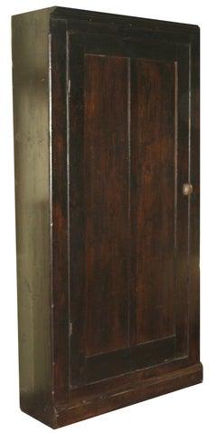 Ebonised American Pine Pantry Cupboard