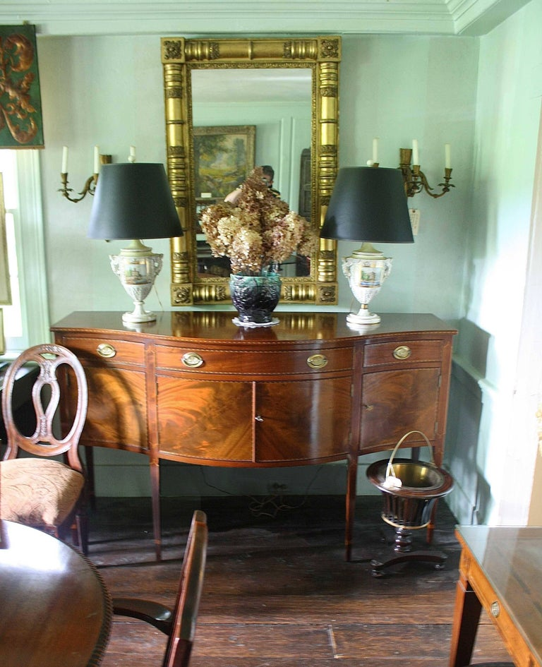American Federal Revival Inlaid Mahogany Sideboard For Sale 6