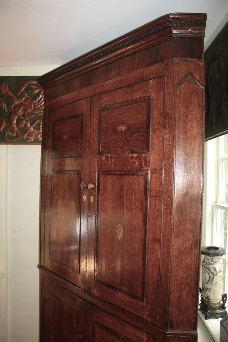 Mahogany Scottish George III Period Corner Cupboard For Sale