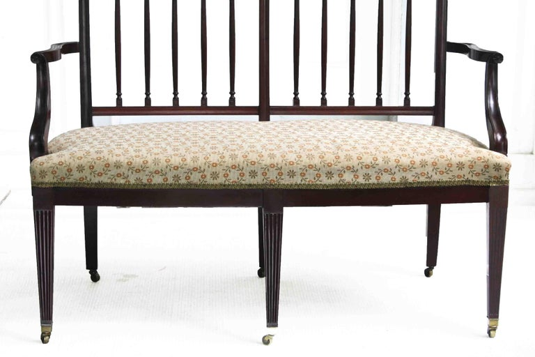 Late 19th Century American Hepplewhite Revival Bench For Sale