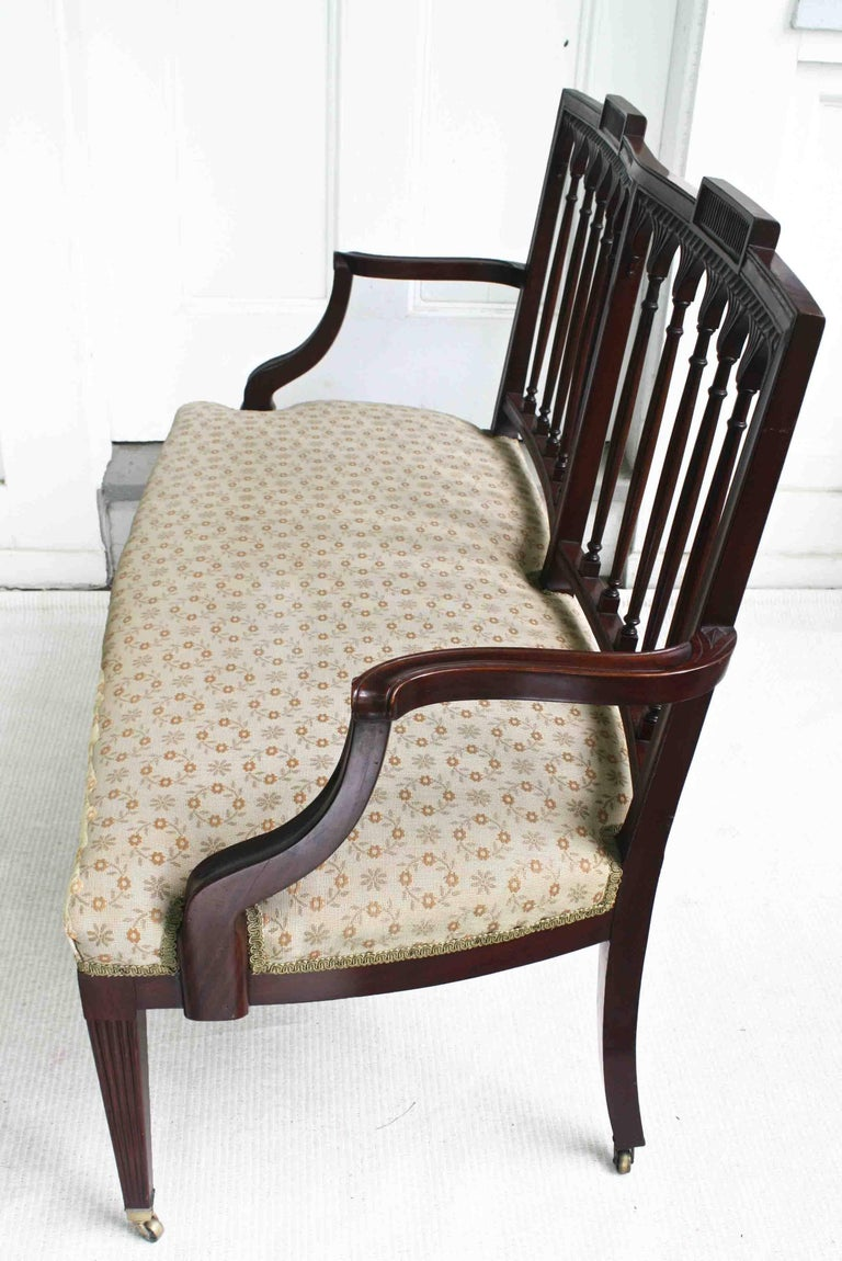 American Hepplewhite Revival Bench For Sale 1
