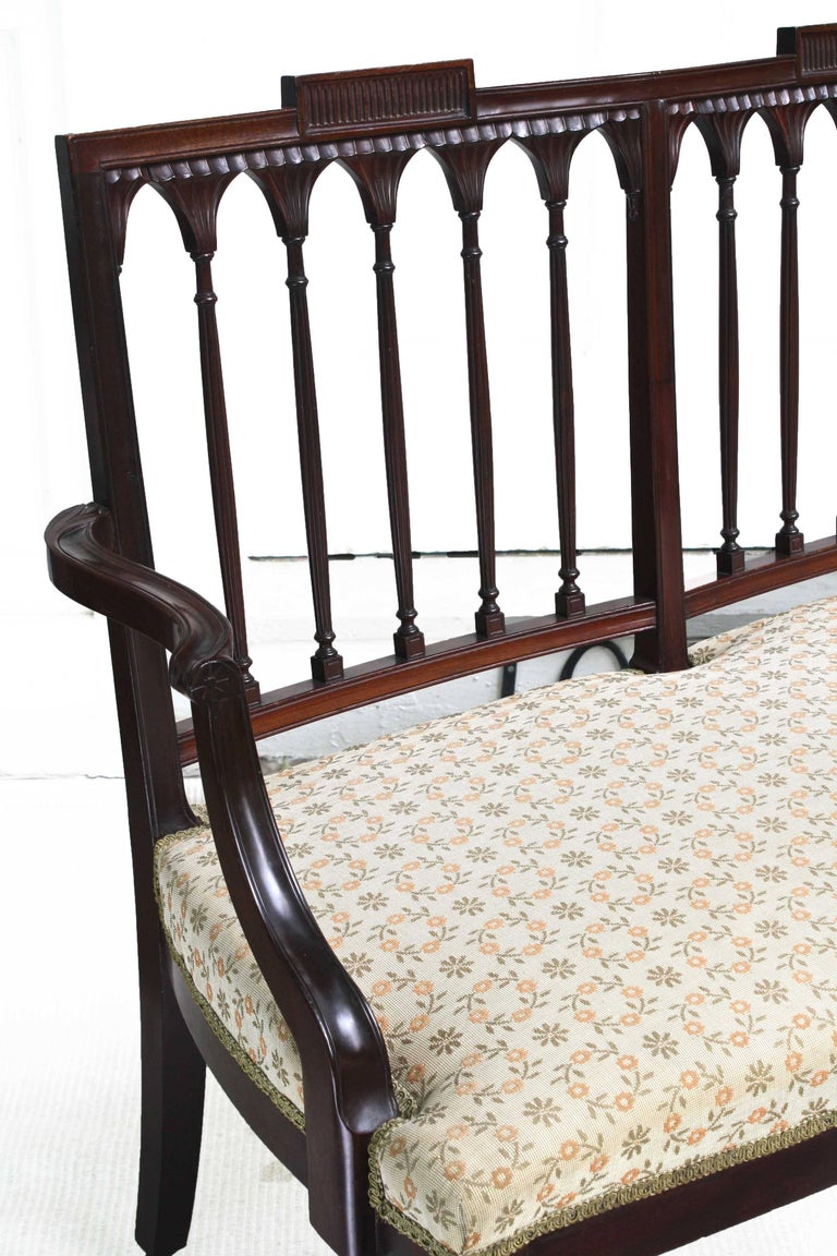 American Hepplewhite Revival Bench For Sale 2