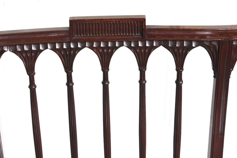 American Hepplewhite Revival Bench For Sale 3