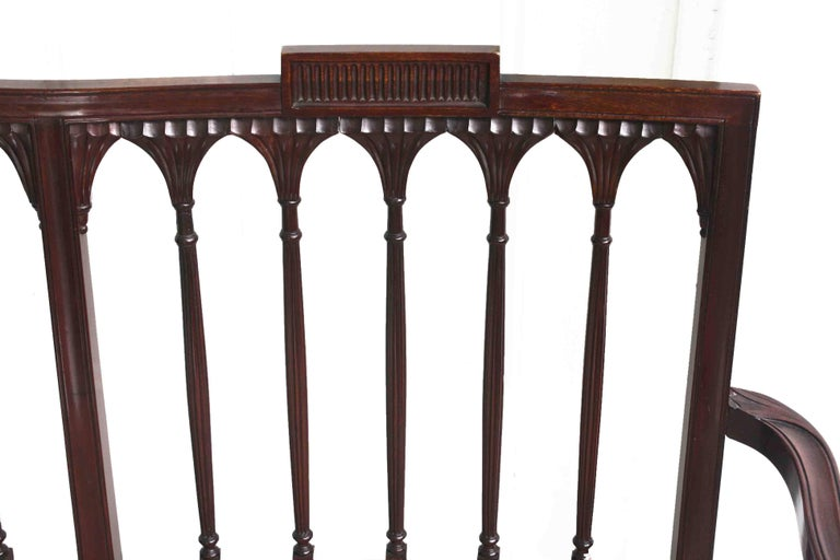 American Hepplewhite Revival Bench For Sale 4