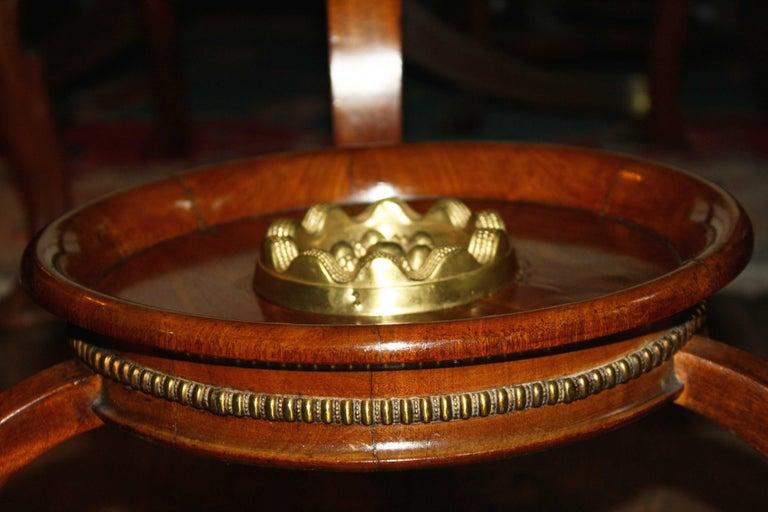 Brass German Biedermeier Center Table For Sale