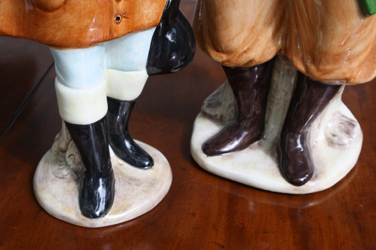 Ceramic Equestrian Canine Couple For Sale 1