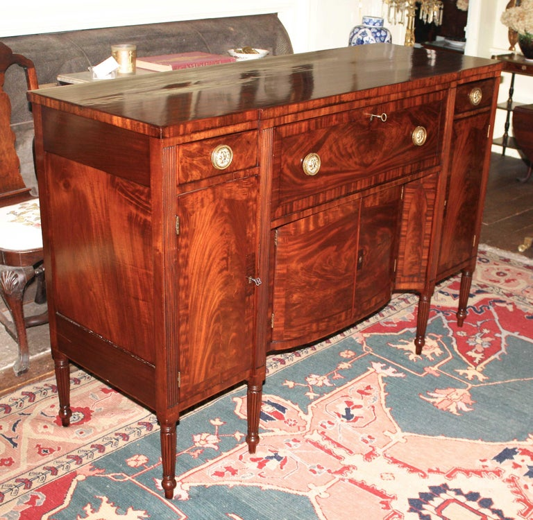 American Baltimore Federal Sideboard with Butler's Secretary For Sale