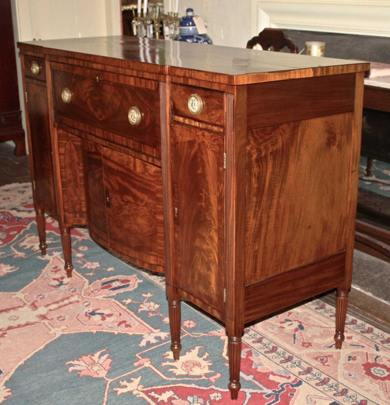 Hand-Carved Baltimore Federal Sideboard with Butler's Secretary For Sale