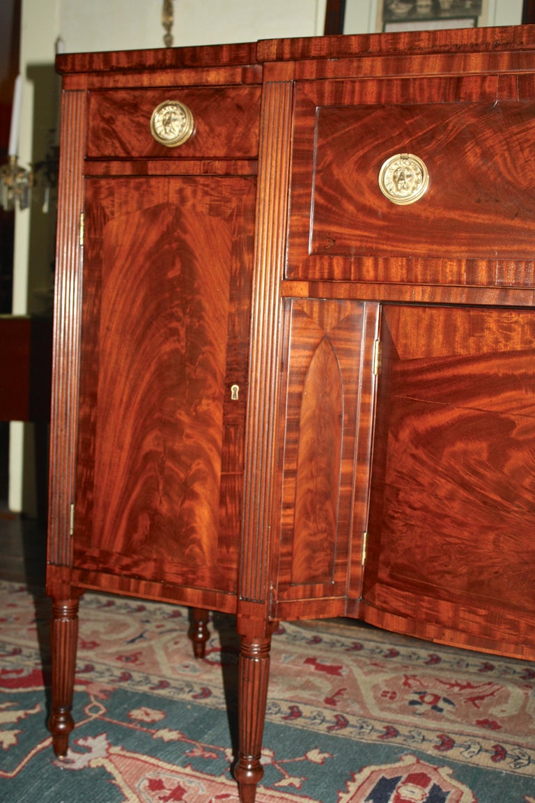 19th Century Baltimore Federal Sideboard with Butler's Secretary For Sale