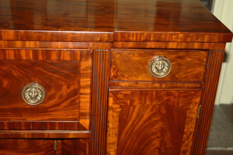 Mahogany Baltimore Federal Sideboard with Butler's Secretary For Sale