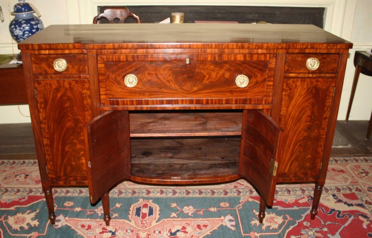 Baltimore Federal Sideboard with Butler's Secretary For Sale 3