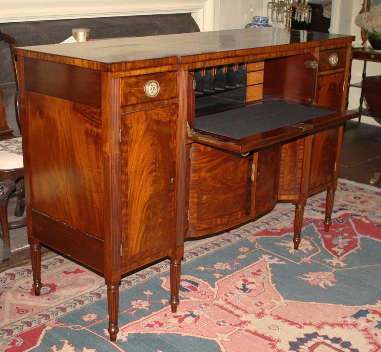Baltimore Federal Sideboard with Butler's Secretary For Sale 5