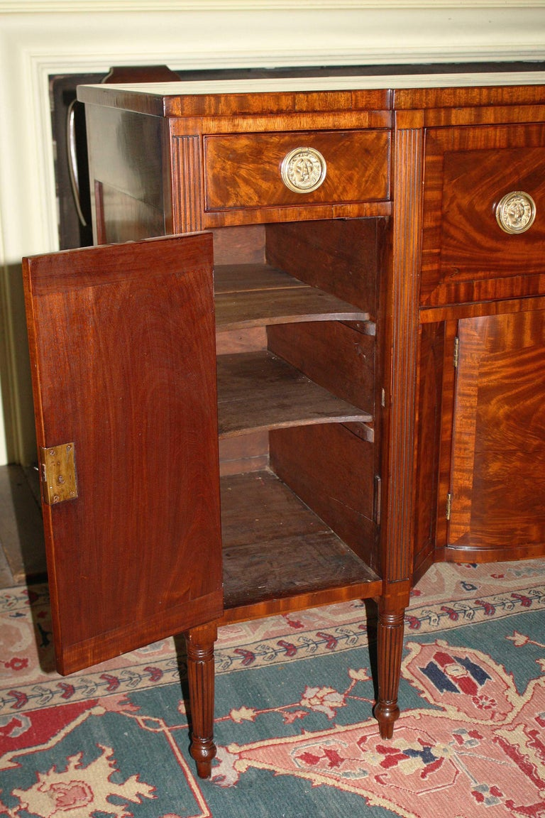 Baltimore Federal Sideboard with Butler's Secretary For Sale 4