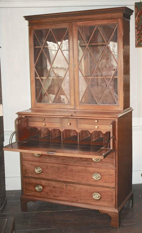 American Maryland Hepplewhite Secretary Bookcase For Sale