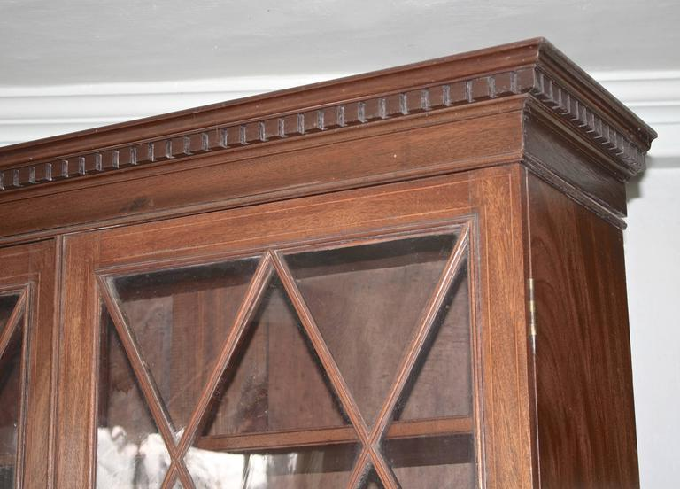 Mahogany Maryland Hepplewhite Secretary Bookcase For Sale