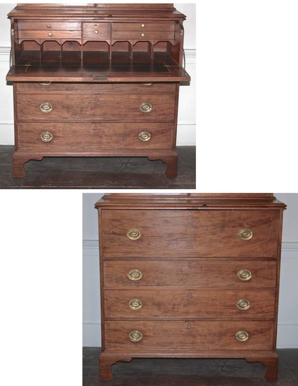 Maryland Hepplewhite Secretary Bookcase For Sale 1